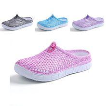 Kootk Unisex Pantoffeln Damen Herren Clogs Hausschuhe Mules Strand Flach Schuhe Sommer Atmungsaktiv Freizeit Clogs Slippers Rosa 38