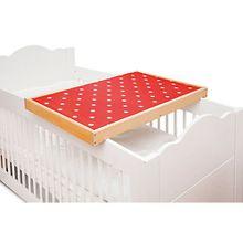Wickelplatte PIT Kinderbett, Buche massiv mit Auflage holzfarben  Kinder