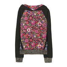 Desigual Mädchen Sweatshirt SWEAT_GREBE, Schwarz (Negro 2000), 116 (Herstellergröße: 5/6)