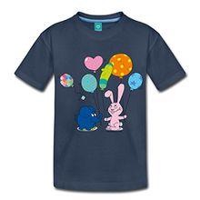 Spreadshirt Elefant und Hase - Luftballons Kinder Premium T-Shirt, 98/104 (2 Jahre), Navy