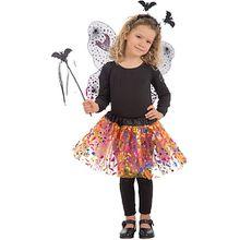 Hexen-Set (Flügel, Rock, Haarreif, Zauberstab), 4-tlg. Mädchen Kinder