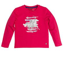 SALT AND PEPPER Mädchen Sweatshirt Sweat Horses Photo Strass, Rosa (Teaberry Melange 822), 116