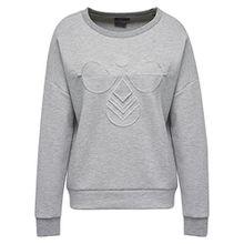 Hummel Damen Pullover Marion Sweatshirt 33393 Grey Melange M