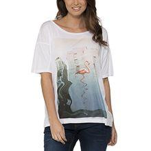Bench Damen T-Shirt Vastness, Gr. 34 (Herstellergröße: XS), Weiß (Bright White WH001)