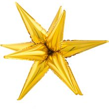 Folienballon Stern gold,  klein