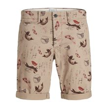 JACK & JONES Enzo Ww Print Camp Chinoshorts Herren Braun