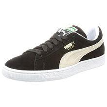 Puma Suede Classic+, Unisex-Erwachsene Sneaker, Schwarz/Weiß, 43 EU