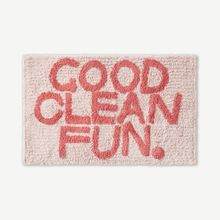 Good Clean Fun Badematte aus 100 % Baumwolle, Rosa - MADE.com