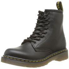 Dr. Martens DELANEY Softy T BLACK, Unisex-Kinder Bootsschuhe, Schwarz (Black), 34 EU (2 Kinder UK)