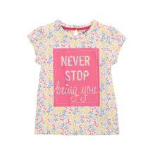 NAME IT Shirt 'NMFFIJANE' gelb / rosa / weiß