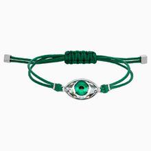 Swarovski Power Collection Evil Eye Armband, grün, Edelstahl