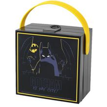 LEGO Brotdose mit Griff Batman schwarz