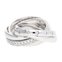 Esprit Fingerring mit Zirkoniasteinchen ESRG02838A Ringe silber Damen