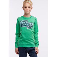 Petrol Industries Sweater dunkelblau / grün / weiß