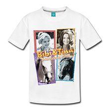 Spreadshirt Bibi und TinaTohuwabohu Total Sabrina Collage Kinder T-Shirt, 134/140 (8 Jahre), Weiß