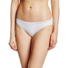 Calvin Klein Damen Slip, Weiß (WHITE 100), 36 (Herstellergröße: S)