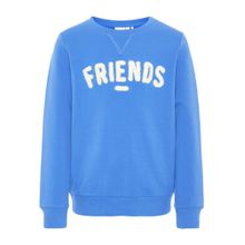 NAME IT Sweatshirt 'Friends' royalblau / weiß