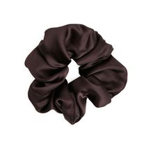 Satin Hair Scrunchie - Brown