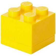 LEGO Aufbewahrungsdose Storage Brick 4er gelb
