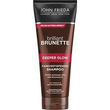 John Frieda Haarpflege Brilliant Brunette Deeper Glow Farbvertiefendes Shampoo 250 ml