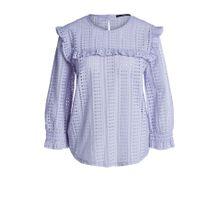 Lochspitzen-Shirt mit Rüschendetails