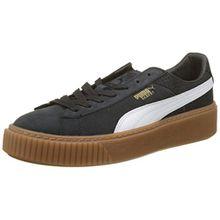 Puma Damen Basket Platform Perf Gum Sneaker, Schwarz Black-White-Gold, 38 EU