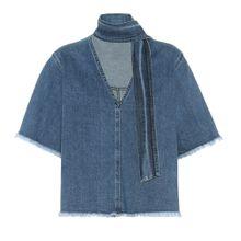 Jeanshemd aus Stretch-Baumwolle