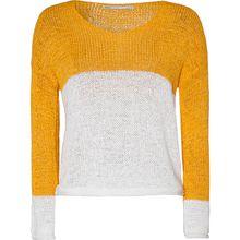 ONLY onlGABBI L/S BLOCK PULLOVER CC KNT - Pullover - weiblich gelb Damen