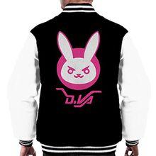 Dva Bunny Logo Overwatch Men's Varsity Jacket