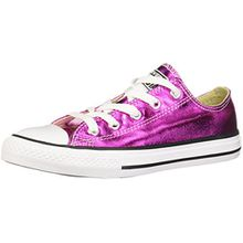 Converse Chuck Taylor All Star Metallisch Kleinkinder Magenta Glühend Textil Turnschuhe - Magenta, 2 UK Child