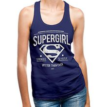 CID Damen Pullunder Supergirl-Better Than Ever, Blau (Navy Blue), 40 (Herstellergröße:XL)