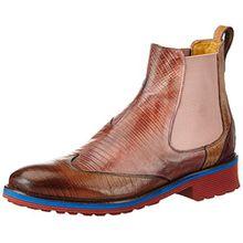 Melvin & Hamilton Damen Amelie 13 Chelsea Boots, Mehrfarbig (Guana Tortora, Rose, Beige, Fuxia/Ela.Rose/Rook D Red+Eva), 39 EU