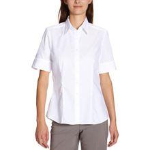 Seidensticker Damen Bluse Hemdbluse Kurzarm modern fit Uni Bügelfrei, Weiß (Weiß 01), 44