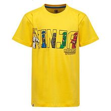 LEGO Wear Jungen T-Shirt Ninjago M-72165 gelb (yellow 233) Gr.128