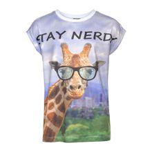 BUFFALO T-Shirt 'Giraffe' mischfarben / weiß