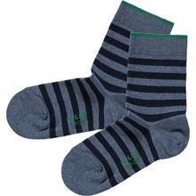 Kinder Socken gestreift blue denim