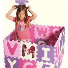 Puzzlematte pink, 36-teilig