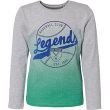 TOM TAILOR Shirt blau / graumeliert / jade