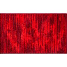 GRUND Badteppich 100% Polyacryl, ultra soft, rutschfest, ÖKO-TEX-zertifiziert, 5 Jahre Garantie, FANCY, Badematte 70x120 cm, rubin