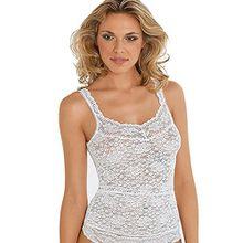 Damen Hemd Wäsche - Gr. 38 - Weiß