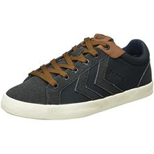 Hummel Unisex-Erwachsene Deuce Court Winter Low-Top, Blau (Total Eclipse), 44 EU