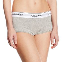 Calvin Klein Damen Panties MODERN COTTON - SHORT, Gr. 36 (Herstellergröße: S), Grau (GREY HEATHER 020)