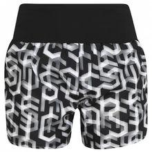 Asics - Women's 3.5In Short Print - Laufhose Gr L;S;XL;XS schwarz;schwarz/grau