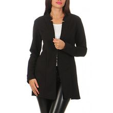 Damen lang Blazer mit Taschen ( 573 ), Farbe:Schwarz, Blazer 1:42 / XL