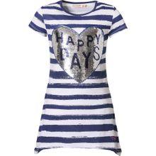 Desigual T-Shirt dunkelblau / weiß