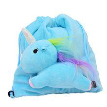 Einhorn Rucksack, Tasche, hellblau/rosa, Plüschtier, unicorn bag, 21x19cm, Tasche, Kindergarten, Schule, Turnbeutel Geschenk