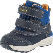 GEOX Baby Winterstiefel 'NEW GULP' blau / dunkelgrau / orange