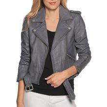 tigha Lederjacke in grau für Damen
