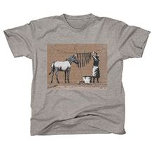 Banksy Zebra Washing Line Men's T-Shirt