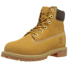 Timberland 6 Inch Classic FTC_Premium WP 14949 Unisex-Kinder Stiefel, Beige (Wheat), 32.5